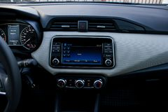 Car infotainment system display stock photography