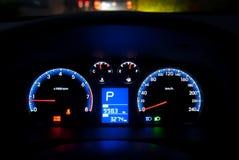 Car instrument panel. Closeup of Car instrument panel Stock Image