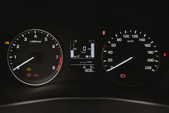 Car instrument panel, dashboard closeup Royalty Free Stock Photo
