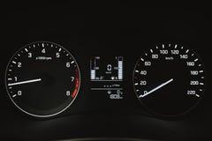 Car instrument panel, dashboard closeup Stock Image
