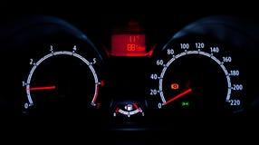 Car instrument panel Royalty Free Stock Image