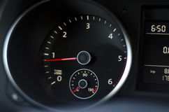 Car instrument panel with light reflection Royalty Free Stock Photo