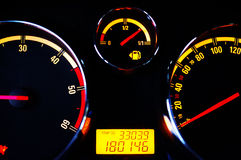 Car instrument panel Royalty Free Stock Photography