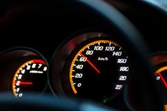 Car instrument panel Royalty Free Stock Image