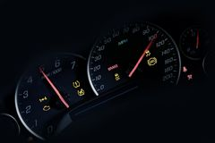 Car Instruments Dash Stock Photography