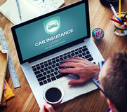 Car Insurance Accident Property Protection Concept Royalty Free Stock Photography