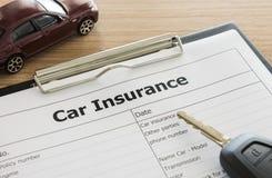Car insurance Royalty Free Stock Photos