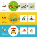 Car Insurance Banners Stock Photos