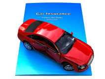 Car insurance brochure Royalty Free Stock Photography