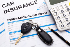 Car insurance claim concept Royalty Free Stock Images