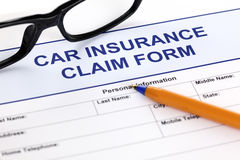 Car insurance claim form Stock Images