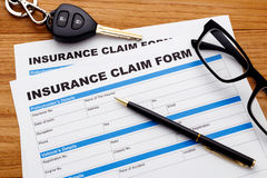 Car insurance claim form with pen Royalty Free Stock Photos