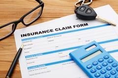 Car insurance claim form Stock Image