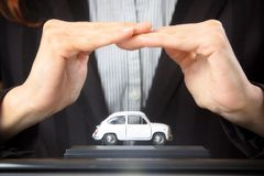 Car insurance and collision damage waiver concepts Royalty Free Stock Images