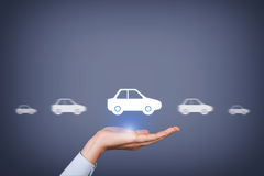 Car Insurance Concept on Human Hand Royalty Free Stock Photography