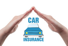 Car insurance concept isolated on white background Stock Image