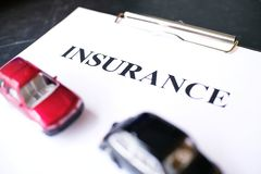 Car insurance concept with policy. Car insurance concept with policy Stock Photo