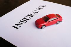 Car insurance concept with policy. Car insurance concept with policy Royalty Free Stock Images