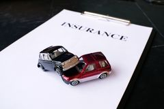 Car insurance concept with policy. Car insurance concept with policy Royalty Free Stock Photo