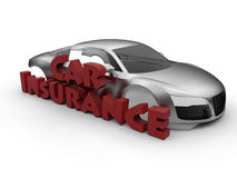 Car insurance 3D concept Royalty Free Stock Images