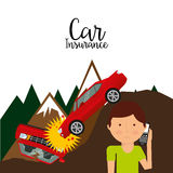 Car insurance. Design, vector illustration eps10 graphic Royalty Free Stock Image