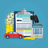 Car insurance form concept Royalty Free Stock Image