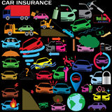 Car insurance icons Royalty Free Stock Photo