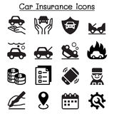 Car insurance icons. Graphic design Vector illustration Royalty Free Stock Photo