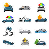 Car Insurance Icons Royalty Free Stock Photos
