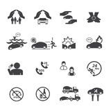 Car insurance icons set. Stock Images