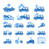 Car Insurance Icons Set. Vector Illustration in Stock Photo