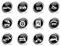 Car Insurance Icons set Stock Photo