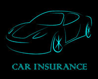 Car Insurance Indicates Coverage Vehicle And Auto Stock Photography