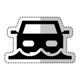 Car insurance isolated icon Stock Photography