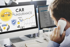 Car Insurance Policies Safety Coverage Concept Stock Images
