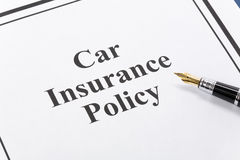 Car Insurance Policy Royalty Free Stock Photo