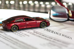 Car Insurance Policy. Stock Image Royalty Free Stock Photos