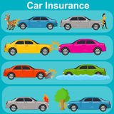 Car insurance, protection concept, vector illustration Stock Photography