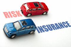 Car insurance or risk. Concept image Vehicle insurance or risk you want Stock Image