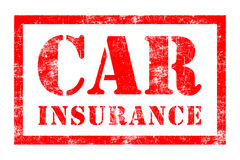 Car Insurance rubber stamp. In red ink with white background Royalty Free Stock Image