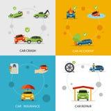 Car Insurance Set Royalty Free Stock Photography