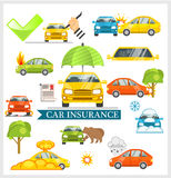 Car Insurance vector illustration Stock Images