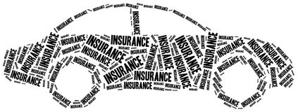 Car insurance. Word cloud illustration. Stock Photos