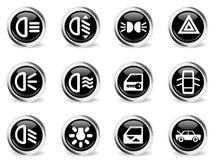 Car interface icons set Stock Photo