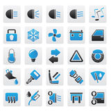Car interface sign and icons Royalty Free Stock Photography