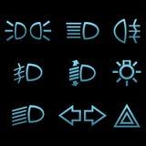 Car interface symbols Stock Photos