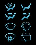 Car interface symbols Royalty Free Stock Image