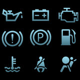 Car interface symbols Royalty Free Stock Images