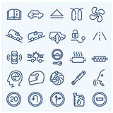 Car interface thin line icons set Royalty Free Stock Image