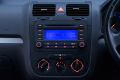 Car Interior. Interior of a car with lights on royalty free stock image